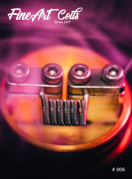 Handmade Coil #006 Half Staggered Fused Clapton