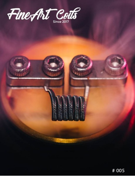 Handmade Coil #005 Half Staggered Fused Clapton