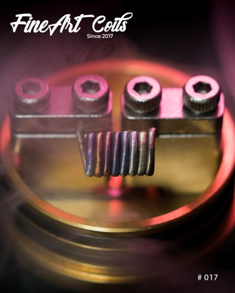 Handmade Coil #017 Fine Fused Clapton Stacking Coil