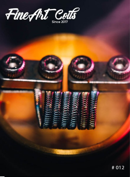 Handmade Coil Aromizer Plus #012 Half Staggered Fused Clapton