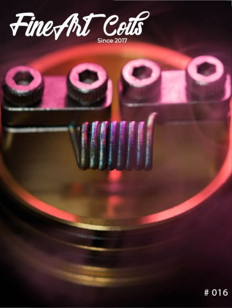 Handmade Stacking Coil #016 Fine Fused Clapton